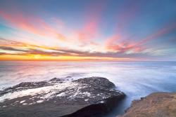 Pinks At Sunset Ocean Beach