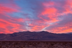 Sunrise Over Panamint Springs Death Valley