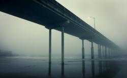 Fogged In Pier Ocean Beach CA