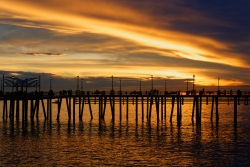 Redondo Pier Warm Sunset