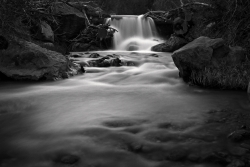 This black and white nature image of this waterfall was taken at the entrance to Straight Canyon. I had been following this river for quite some time looking for the shot. When I saw the falls I new that was it. It was so peaceful in this place I stayed there for about an hour, but it seemed like an eternity. Truly what the American Landscape is all about. This is limited to 99 prints. If interested in a custom frame and mat with the print please contact me.